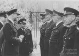 S.K.-Polizei Inspektion durch britische Offiziere-7